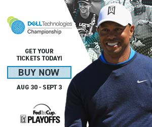 Tiger Woods at the 2018 Dell Technologies Championship
